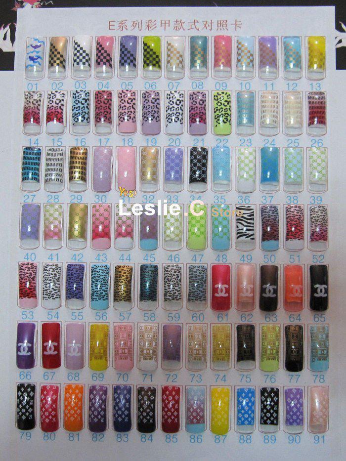 Wholesale acrylic nail art tips pre design designed nail for Acrylic toenails salon