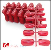 ingrosso decorazioni di unghie false 3d-All'ingrosso-Nuovo Pro 8 colori moda copertura completa artificiale falso ABS punte finte del chiodo per 3D decorazioni unghie artistiche cura del chiodo strumenti del salone F8