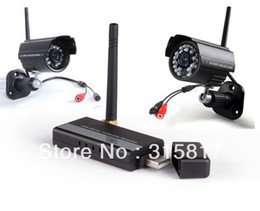 Wholesale Receiver Security System Usb Dvr - Wholesale-Digital Home Security CCTV System Wireless Video IR 2 Cameras & 4CH USB Receiver DVR
