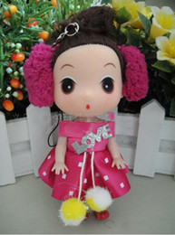 Wholesale Ddung Cartoon - Wholesale 600pcs Mini Cute Ddung Doll Chain Charms As Gift Multi-Style (30 Different styles) 12 cm