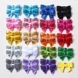 "Wholesale Stocking Bows - Wholesale-Wholesale 1.5"" mini baby sequin bows hair bows as headband flower accessories 19colors in stock"