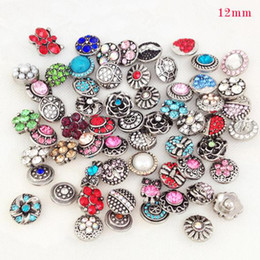 Wholesale Random Buttons - Wholesale-MS918 Free shipping 50pcs lots Metal Small snap button random delivery ( lot of crystal) 12mm OEM, ODM