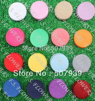 "Wholesale Round Felt Circles - Wholesale-Free USA ePacket CPAP 1000pcs 1.5"" 4cm die cut round felt circles applique pads headbands backing 24 stock colors for"
