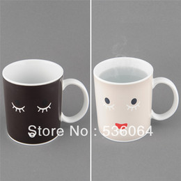 Wholesale Magical Mugs - Wholesale-Facial Expression Magical Heat Sensitive Color Change Face Changing Mug Gift