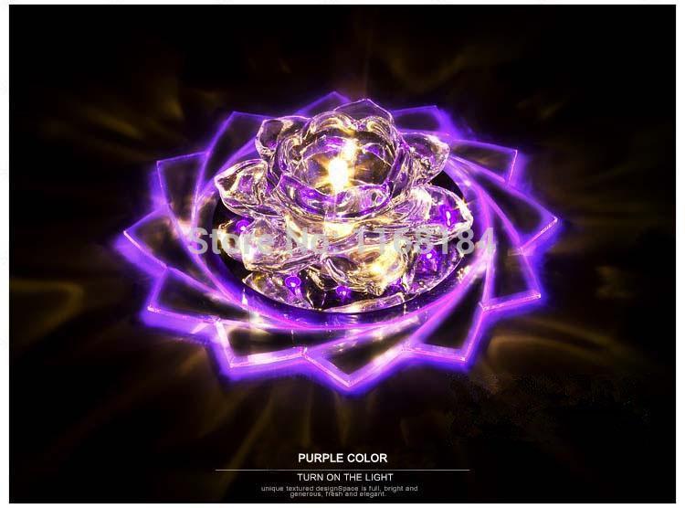 6b21c9b98d Toptan-Lotus çiçeği Kristal oturma odası lamba ışıkları aydınlatma için  Downlight Fikstür Aydınlatma kristal koridor koridor ışıkları ...