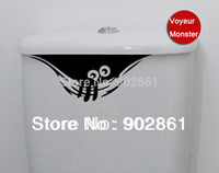 Wholesale Wall Sticker Funlife - Wholesale-Funlife 25x10cm 10x4in Voyeur Monster Watch Wall stickers Wall Decal Removable Art Home Mural decal Vinyl L1000064