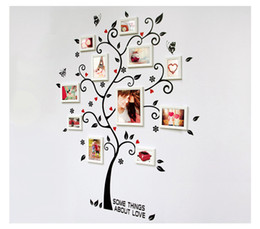 Wholesale Happy Tree Sticker - Wholesale-home decoration frames supporting wall stickers TV backdrop decorative wall stickers wall stickers green happy tree wall decor
