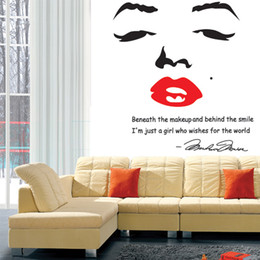 2019 fond d'écran dhl Gros-Adesivo De Parede Portrait de Marilyn Monroe Bricolage Wall Sticke Papier Peint Autocollants Art Décor Mural Chambre Decal Home Decoration
