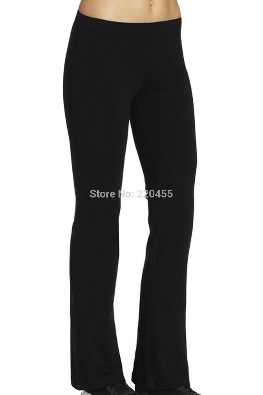 0397ba39e06eb9 2019 Wholesale ILoveSIA Women'S Sport Bootleg Flares Long Pants Full Length  Trousers Bell Bottomed Elastic Waist Casual Fitness Running From Aprili, ...