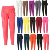 Wholesale Harem Dance Pants Wholesale - Wholesale-New Ladies Fashion Casual Harem Baggy Dance Sport Sweat Pants Trousers Slacks