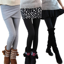 Wholesale Lightweight Skirts - Wholesale-30 styles free shippng women leggings lady's fake 2pcs skirt and pencil pants for fahsion girls