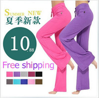 Wholesale korean xxl clothes - Wholesale-2015 Rushed Fitness Pants Waist Cotton And Summer New Large Size Korean Women Yoga Modal Yu Tai For Workout Clothes Freeshipping