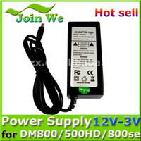 Wholesale Ac Power Adapter 3v - Wholesale-power supply adapter 12V-3V for DM800 500HD DM800SE Sunray4 Satellite receiver the 12V 3A Ac Free Shipping