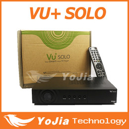 Wholesale Pvr Digital - Wholesale-1pc Vu Solo HD Digital Satellite Receiver with V3.2 Newest Version VU+ Solo PVR Linux Smart Single Tuner free shipping