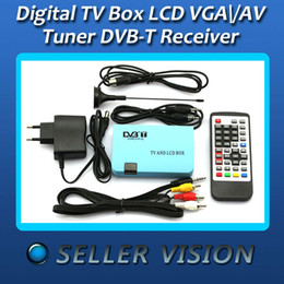 Wholesale dvb t digital tv box - Wholesale-Digital TV Box LCD VGA AV Tuner DVB-T FreeView Receiver For UK SPC-002102