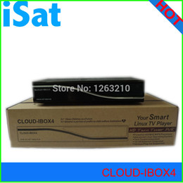 Wholesale cloud tv - Wholesale-free DHL shipping HD satellite receiver enigma 2 MPEG 4 cloud ibox 4 twin tuners dvb-s s2 linux smart tv box cloud-ibox4