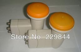 Wholesale Lnb Wholesale - Wholesale-Free shipping! Fabulous KU Band four LNB SR-4604-2 LNB four output LNB in satellite TV receiver