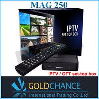 Wholesale IPTV Box MAG250 Set Top Box IPTV OTT linux system MAG Stability confirmed by IPTV providers in countries Linux OS