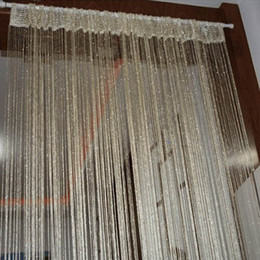 Wholesale Vogue Living Rooms - Wholesale-13 Colors Vogue Curtain Silver Silk Tassel String Door Window Living Room Divider Curtain Valance Freeshipping