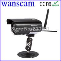 açık gece kablosuz güvenlik kamerası toptan satış-Toptan-Mini Kablosuz WiFi Mor CCTV Açık Su Geçirmez Gece Görüş Wanscam Webcam Ağ Güvenlik IP Kamera IR 20 M