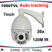 Wholesale Dome Ptz - Wholesale-1000TVL Auto Tracking PTZ Camera High Speed dome with 36X zoom waterproof