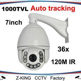 Canada Vente en gros-1000TVL dôme à grande vitesse de caméra PTZ de suivi automatique avec zoom 36X étanche cheap high speed ptz camera Offre