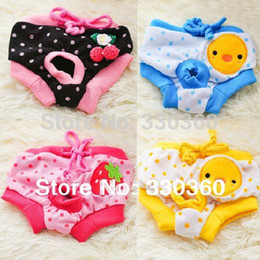 Wholesale Short Cute Pant - Wholesale-New 2015 Female Pet Dog Puppy Sanitary Cute Physiological Pants Short Panty Diaper Underwear RM0002 Free shipping&DropShipping