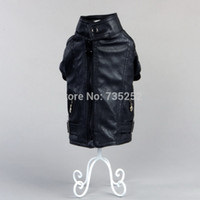 Wholesale Poodle Accessories - Wholesale-Free shipping pet apparel dogs jacket pu leather with fleece lining cute dog clothes for winter products chihuahua poodle suit
