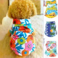 Wholesale Wholesale Hawaiian Shirts - Wholesale-Dog Hawaiian Camp Shirt Pet Casual Canine Floral Shirt Clothes Summer Beach Top For Free Shipping
