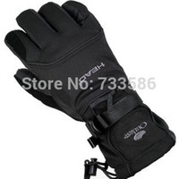 Wholesale Cold Winter Gloves - Wholesale-FREE SHIPPING Head Men ski gloves men electric bicycle motorcycle waterproof cold-proof winter thermal fleece windproof gloves