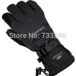 Wholesale Glove Thermal - Wholesale-FREE SHIPPING Head Men ski gloves men electric bicycle motorcycle waterproof cold-proof winter thermal fleece windproof gloves