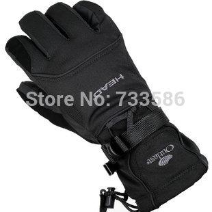 top popular Wholesale-FREE SHIPPING Head Men ski gloves men electric bicycle motorcycle waterproof cold-proof winter thermal fleece windproof gloves 2019