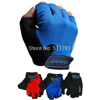 Wholesale Half Finger Gloves Designs - Wholesale-2015 Newest Design Fashion Half Finger Giant Cycling Gloves MTB Bicycle Gloves Guantes Ciclismo