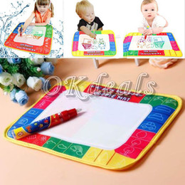 Wholesale Children Books - Wholesale-Hot sale 29 * 19cm water drawing board book writing painting Playmats Children Kids Baby Toys Xmas Gift