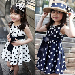 $enCountryForm.capitalKeyWord Canada - Wholesale-2015 New Kids Children Dress Clothing Cute Polka Dot Gift For Girls Little Princess Chiffon Sundress Vestidos Free Shipping