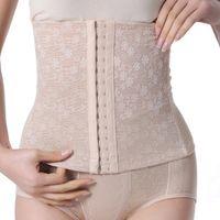 Wholesale Corset Drop Waist - Wholesale-Women Slim Underbust Belt Multi-Breasted Postpartum Waist Abdome Control Corset Free shipping&Drop shipping