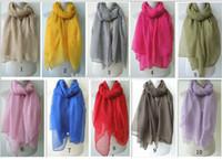 Wholesale Maxi Scarves Plain - Wholesale-Plain maxi scarf viscose shawl pashmina hijab scarf muslim for women lady girl solid color