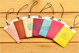 Wholesale Luggage Id - Wholesale-10 X Travel Luggage Baggage Backpack ID Tag Holder Suitcase Name Tag Labels PVC#56540