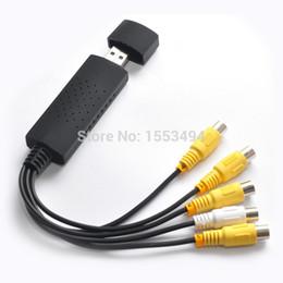 Wholesale Audio Video Capture Security Card - Wholesale-New 4 Channel USB2.0 DVR Video Audio Capture Adapter Card CCTV Security Camera
