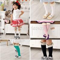 Wholesale High School Babies - Wholesale-Freeshipping Kids Cotton Lace Socks Baby School High Knee Socks Girls Socks 3-8Y