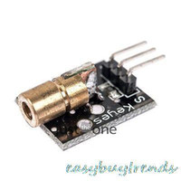 Wholesale Switching Transducer - Wholesale-650nm Laser sensor Module 6mm 5V 5mW Red Laser Dot Diode Copper Head for Arduino