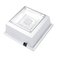 Wholesale Light Base Stand Wholesale - Square Colorful 4 LED Lights Crystal Jewelry Display Stand Base Holder