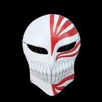 Wholesale White Ichigo - Wholesale-NEW Bleach Kurosaki Ichigo Bankai Anime Figure White Full Hollow Mask Cosplay