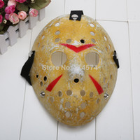 Wholesale Hockey Masks - Wholesale-10pcs ot Jason Voorhees Jason vs Freddy hockey festival party mask killer mask Halloween masquerade mask