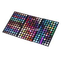 profesyonel makyaj paletleri toptan satış-Toptan-252 Renk Göz Farı Paleti Profesyonel Makyaj Paleti Göz Farı Makyaj Paleti Seti Kozmetik 3 Katmanlı