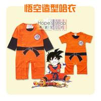 Wholesale Dragon Ball 24 - Wholesale-Baby Romper Boy Goku Dragon Ball Z Summer Spring Autumn Cotton