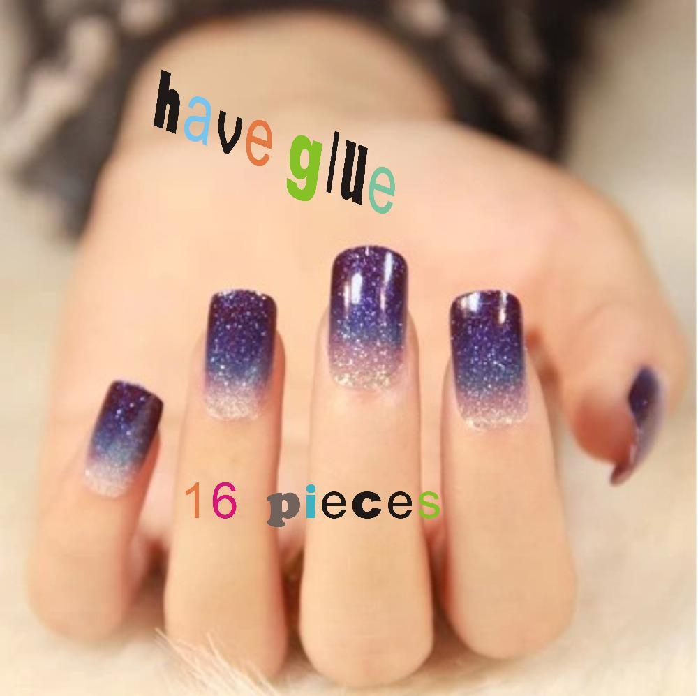 Wholesale-Gradient Color Series Manicure Stickers False Nails Nail ...