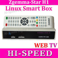 Wholesale Two Tuner - Wholesale-1pc Zgemma-star H1 DVB-S2+DVB-C Two Tuner Combo Enigma2 Linux Smart Box Zgemma star H1 Twin Tuner IPTV instock DHL free shipping