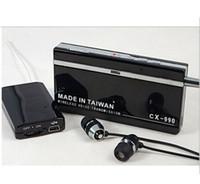 ingrosso ricevitore vocale-Vendita all'ingrosso-CX-990 Mini Wireless Voice Receiver Ricevitore Audio Sound Recorder Trasmettitore Monitor Spedizione gratuita
