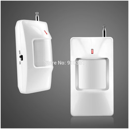Wholesale Gsm Security Set - Wholesale-2pcs lot set 433mhz sensor APP ios android GSM SMS Wireless PIR Home Security Voice Alarm System + Auto Dialing -Voice Prompt
